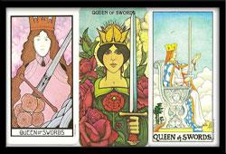 Yes No Queen of Swords Tarot Card