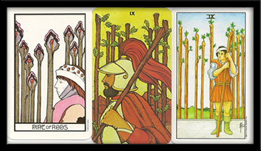 yes no meaning for nine of wands
