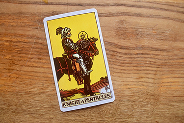 knight of pentacles in a yes or no spread