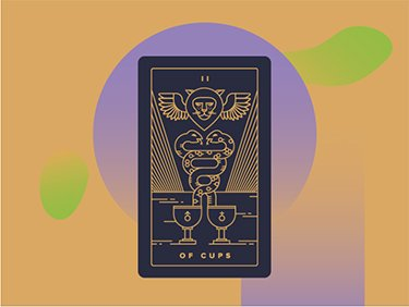 interpreting two of cups tarot card